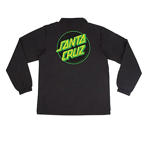 Santa Cruz Skateboards Other Dot Coach Windbreaker Men's Long Sleeve Jacket - Black - XL by Santa Cruz Skateboards