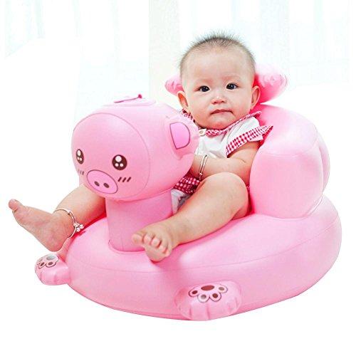Per Sillas Hinchables BB para Ninos Infantiles Sofa Inflables Plegable y Portatil Silla de Comedor para Bebes Asiento de Banera
