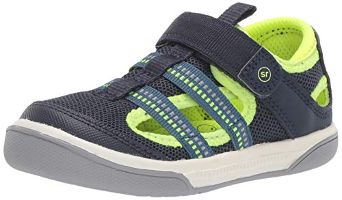 Stride Rite baby-boy's Liam Sandal, navy 9.5 M US Toddler
