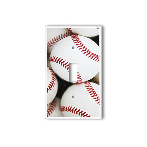 Light Switch Single Wall Plate Cover By InfoposUSA Baseballs - Baseball Light Switch Cover