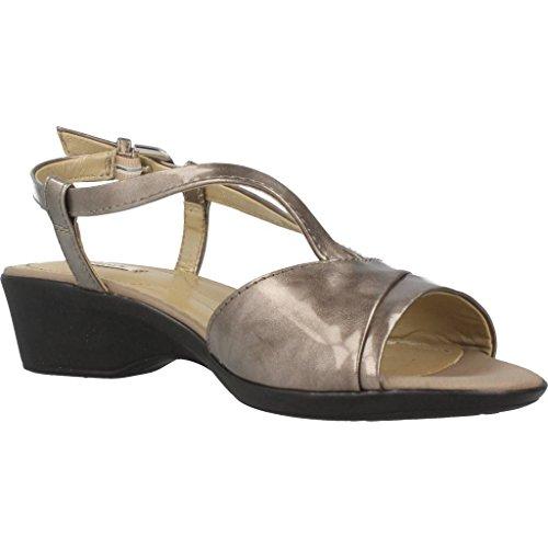Sandalias y chanclas para mujer, color Met�lico , marca GEOX, modelo Sandalias Y Chanclas Para Mujer GEOX D NEW CORAL Met�lico Metálico