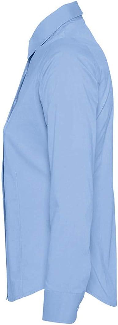 SOLS- Camisa de Trabajo de Manga Larga Edén para Mujer