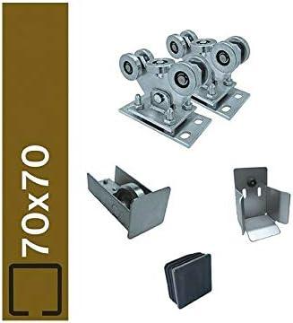 Guía de suelo para perfiles de 70 x 70 mm Unidad freitragend puerta corredera ECO: Amazon.es: Bricolaje y herramientas