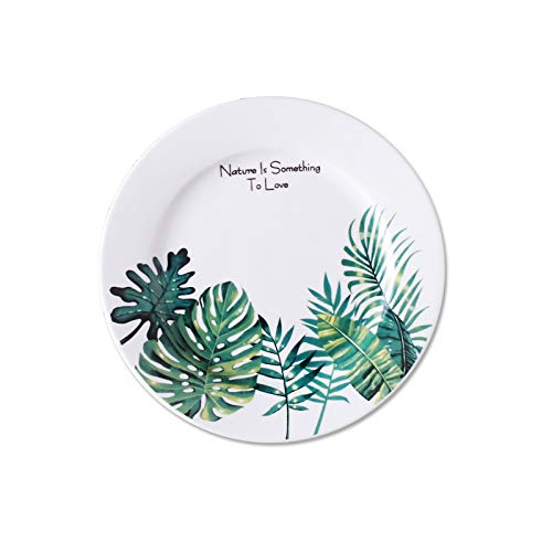 - Wall of Dragon Nordic Style Tropical Plant Monstera Ceriman Pratos Rice Ceramic Snack Dinner Plates Butter Sauce Dish Tray Food Container