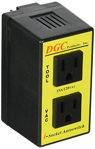 - DGC PRODUCTS i-Socket Intelligent Autoswitch with ports for Power Tool and Vacuum; PATENTED TECHNOLOGY delays Vacuum Turn-On/Off to Prevent Circuit Overload, Eliminating Circuit Breaker Tripping