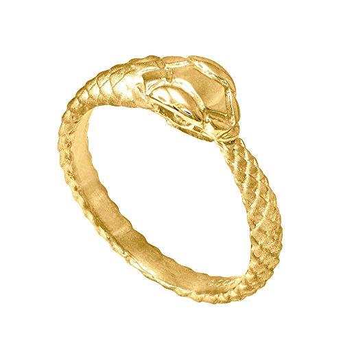 10k Yellow Gold Ouroboros Snake Ring (Size 8)