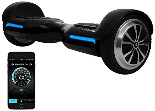 Swagtron T580 Youth Bluetooth Hoverboard with Speaker, Black