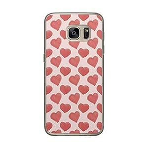 Loud Universe Samsung Galaxy S7 Love Valentine Files Valentine 85 Printed Transparent Edge Case - Off White/Red