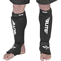 Elite Sports NEW ITEM Protective Kickboxing, MMA, Muay Thai Shin & Instep Guards Leg Pad Training Protective Gear Washable