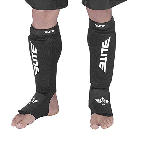 Elite Sports NEW ITEM Protective Kickboxing, MMA, Muay Thai Shin & Instep Guards Leg Pad Training Protective Gear Washable
