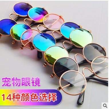 metallo cane gatto cucciolo eye-indossare occhiali da sole marrone scuro Winbang Occhiali occhiali