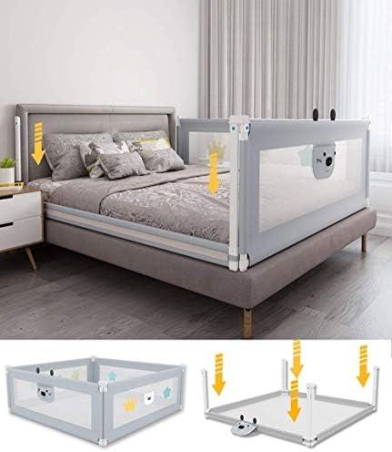 すべてのマットレスに適用| |ベッドガードレール|ベビーベッド少年ベッド|メタルフレームとファブリックカバー|折る滑り止め|4つのサイズ150〜220センチメートル(サイズ:200センチメートル) (Size : 200cm)