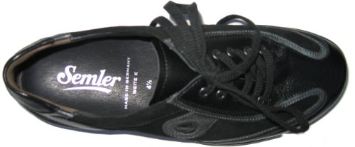 Semler K4025-218-183 Katja Damen Halbschuhe Leder schwarz Schwarz