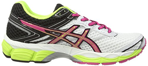 asics Gel-Cumulus 16 (2A) - entrenamiento/correr de sintético mujer blanco - White (White/Hot Pink/Black 120)