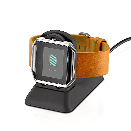 Fitbit Blaze Charger Charging Stand Accessories,Kartice Fitbit Blaze Charging Dock Station Cradle Holder Charging Clip Premium Plastic Bracket Charger Cable for Fitbit Blaze Smart Watch -Black