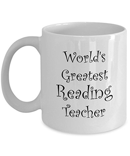 Reading Teacher Gifts Mug - Men, Women, Coworkers - Mugs are Best Gift for Elementary Teachers - Coffee Mug - Perfect for End of Year Gift Idea, Christmas - 11 oz Tea (Cute Toga Ideas)