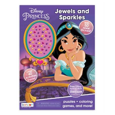 Disney Princess Bendon 45574 Aladdin Princess Jasmine Activity Book with Jewel Stickers, Multicolor: Toys & Games