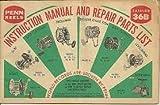 Penn Reels Instruction Manual And Repair Parts List Catalog 36B