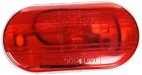 Grote Lens (Grote 46702 Red Single-Bulb Oval Clearance Marker Light (Optic Lens))