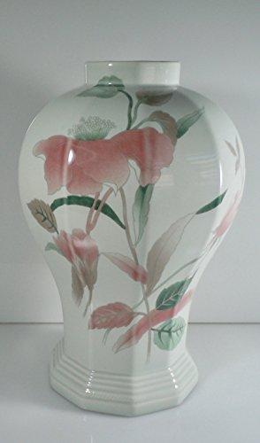 Mikasa Silk Flowers Vase 10 1/2