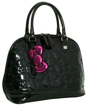 Black Hello Kitty Small Embossed Handbag, Bags Central