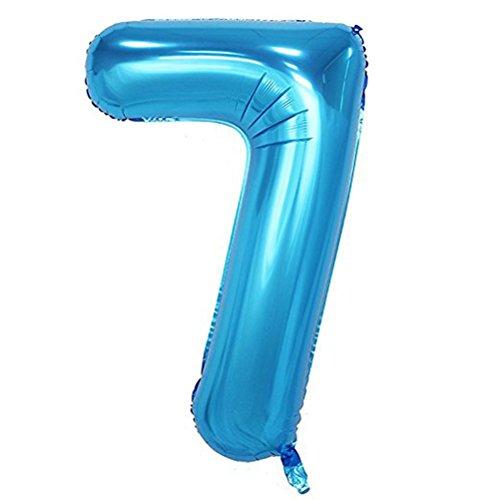 Number 7 Balloon (Tellpet Blue Number 7 Balloon, 40)