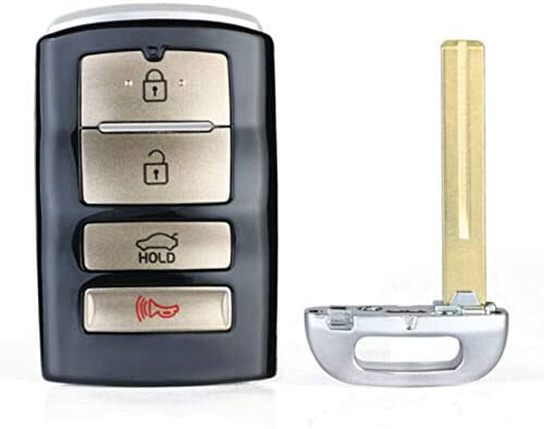Keyecu Replacement Remote Key Shell Case Fob for 2017 2018 Kia Cadenza TQ8-FOB-4F10