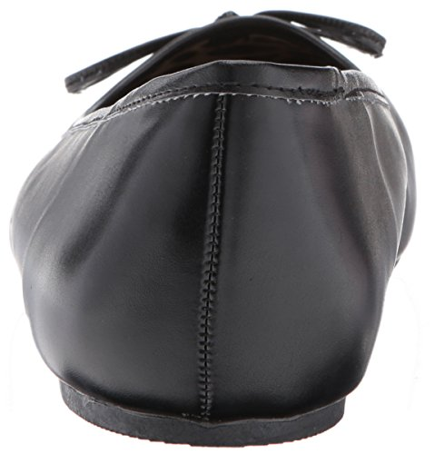 Pleaser Damen Anna-01 Geschlossene Ballerinas Schwarz (Blk Faux Leather)