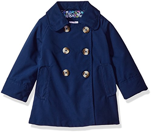 Carter's Baby Infant and Toddler Girls' A-line Flare Trench, Navy, 12M