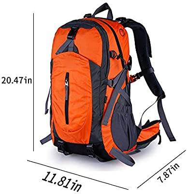 IhDFR Outdoor Mountaineering Bag Shoulder Mens Sports Backpack Travel Female Waterproof Large Capacity Hiking Mens Travel Bag Suspension Carrying System