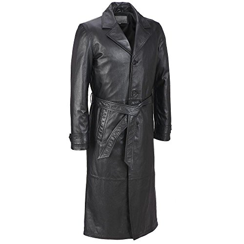 Black Leather Trench Coats - 9