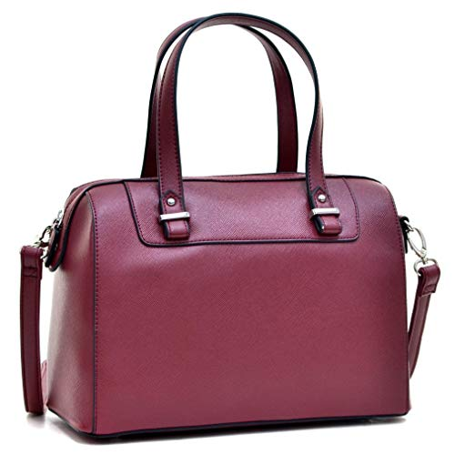 Barrel Satchel Handbag Top Handle Shoulder Bag Zip Purse Small Red