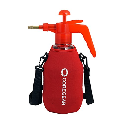 COREGEAR (Ultra Cool XLS USA Misters 1.5 Liter Mister & Sprayer Personal Water Pump with Full Neoprene Jacket and Built-in Carrying Strap (Red)