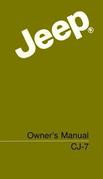 amazon com 1986 jeep wrangler cj owners manual user guide reference rh amazon com 1986 Jeep Cherokee 1986 Jeep Comanche