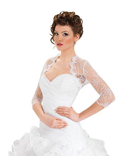 4 Sposa Stile Da In Avorio Coprispalle Nuziale Con Splendido Manica Pizzo 3 Bolerino PwTzxgZqB