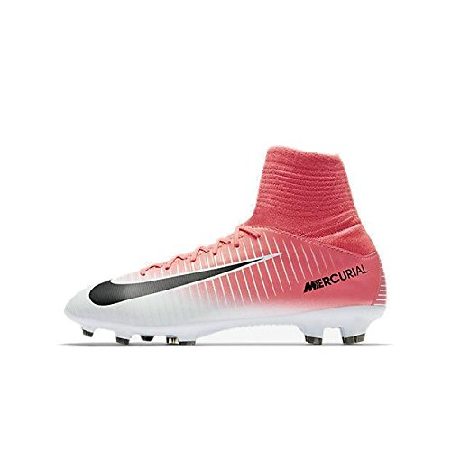 Nike Kids' Jr. Mercurial Superfly V FG Soccer Cleat (Sz. 4.5Y) Racer Pink