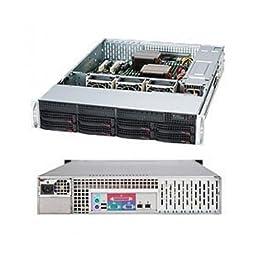 Supermicro SuperChassis CSE-825TQ-600LPB 600W 2U Rackmount Server Chassis (Black)
