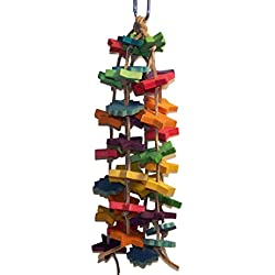 Star Grazing BIRD TOY, Shooting Stars, Sm-Med, Multi-color