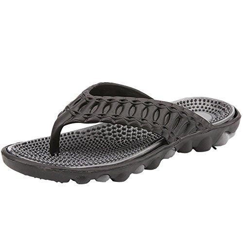 Xujw da Uomo Anti da gray Black shoes Sandali spiaggia Outdoor skid Color 42 And Dimensione casual Sandali Infradito da di bagno o da per un bagno massaggio Gray da Black uomo casa And 2018 EU rfrRPOqI