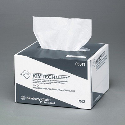 KIMTECH SCIENCE Precision Tissue Wipers, POP-UP Box, 4 2/5 x 8 2/5, White, 280 - 280 Tissues