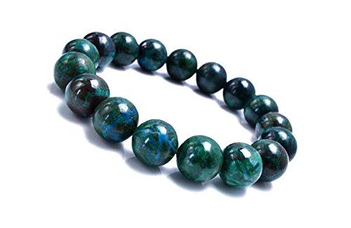 JP_Beads 10mm Chrysocolla Bracelet, Azurite Bracelet,Chrysocolla Jewelry, Gemstone Bracelet, Blue Green Stone Bracelet, Blue Green Stretch Bracelet