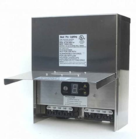Image Unavailable. Image not available for. Color: 600W Stainless Steel Low  Voltage Landscape Light Transformer 12V - 600W Stainless Steel Low Voltage Landscape Light Transformer 12V