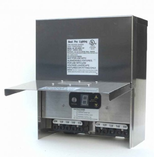 600 Watt Multi Tap Stainless Steel Transformer by Best Pro Lighting