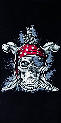 Pirate Cost (Pirate Velour Brazilian Beach Towel 30x60 Inches)