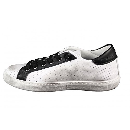 2 Star Scarpe Uomo Mod. Sneaker Low Bianco-Nero Art.2SU1823