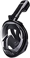 TriMagic Full Face Snorkel Mask for Kids 180° Panoramic Larger Viewing Area Diving Mask for Easier Breathe - GoPro...
