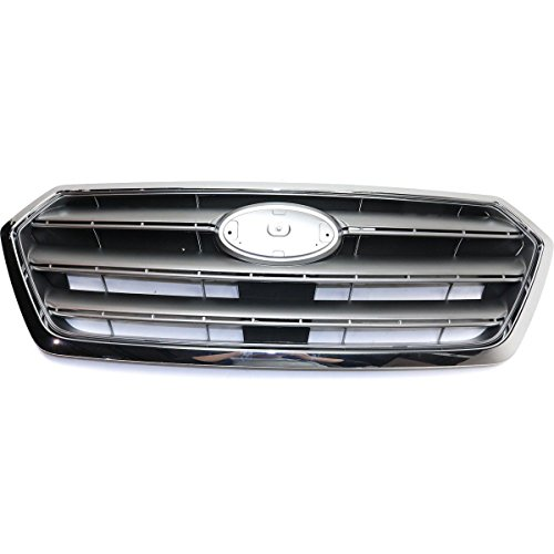 - New Front Grille For 2015-2017 Subaru Legacy Painted-Silver/Gray With Chrome Trim SU1200162 91121AL00A