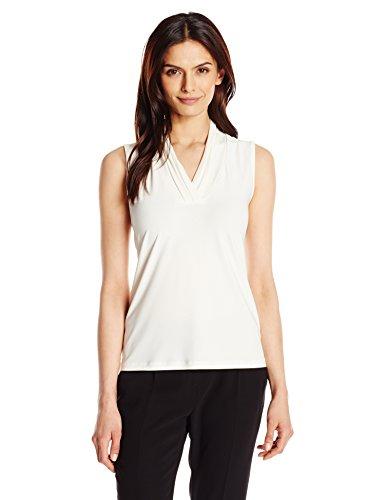 anne-klein-womens-triple-pleat-neck-knit-top-white-medium