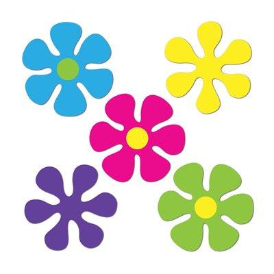 Mini Retro Flower Cutouts (10/Pkg) (Value 3-Pack)