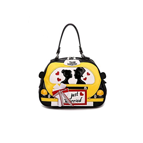 """just Married"" Shoulder Bags Osye Pu Tote Bags-yellow"